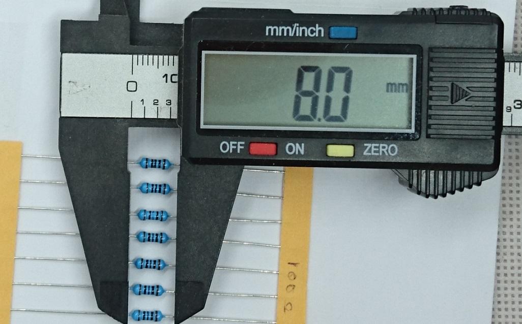 金属皮膜抵抗 3k3Ω(1/4W ±1%)10本テープ品_画像3