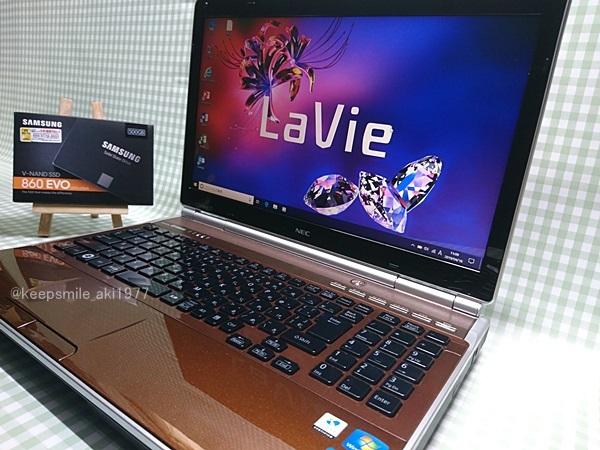 ★美品★ Core i7 【新品SSD】500G 【超快速仕様☆Windows10】NEC LL750/F PC-LL750F23EC メモリ8G BD-RE Office 高音質YAMAHA音源 1円~