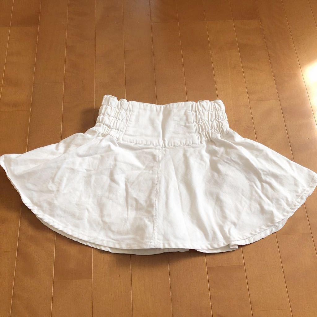 rapipi armario レピピアルマリオ スカパン 140 ホワイト デニム 白 スカート_画像6