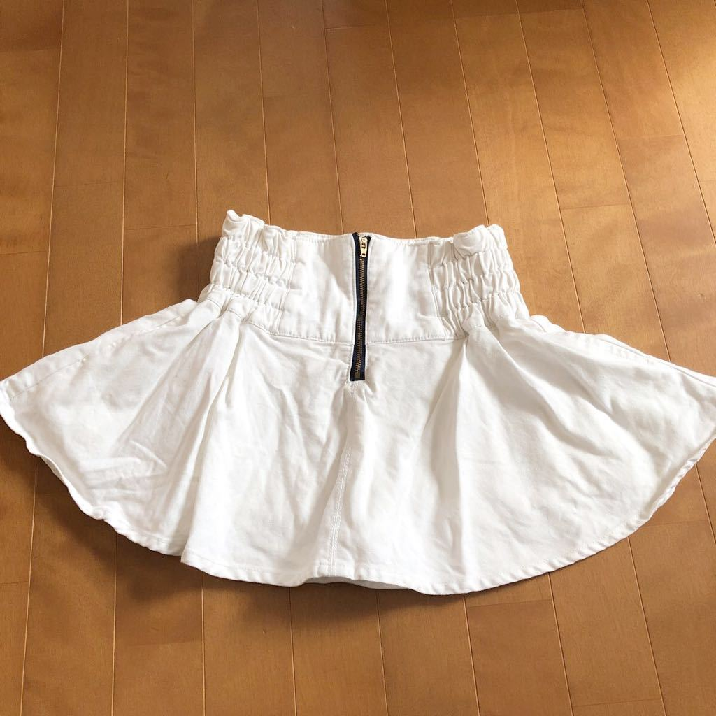 rapipi armario レピピアルマリオ スカパン 140 ホワイト デニム 白 スカート_画像5