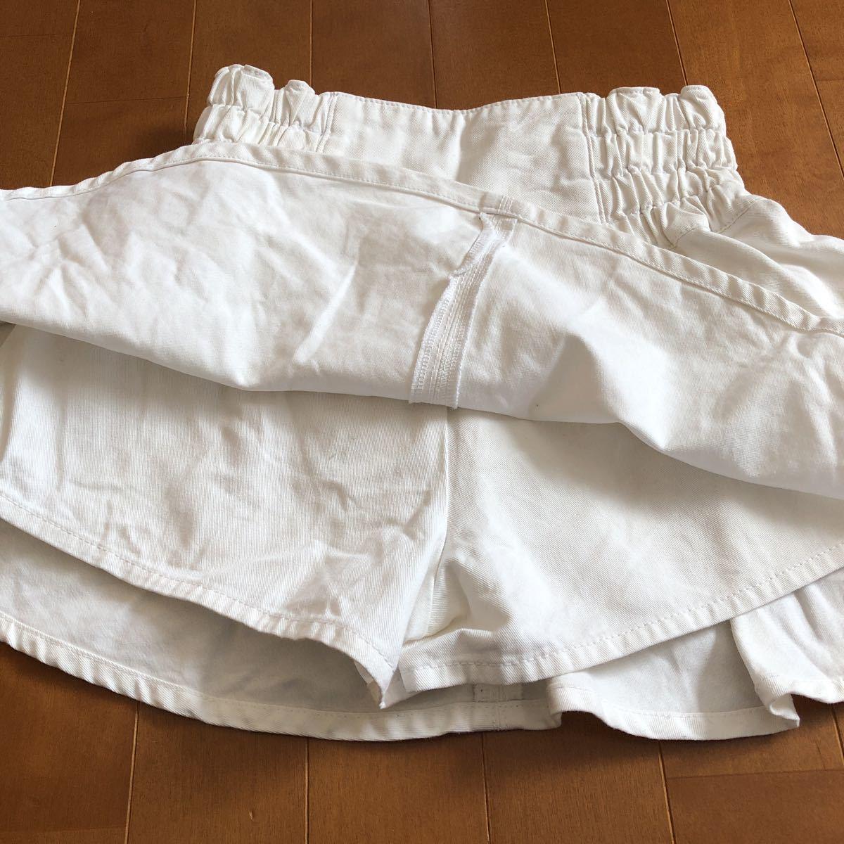rapipi armario レピピアルマリオ スカパン 140 ホワイト デニム 白 スカート_画像3