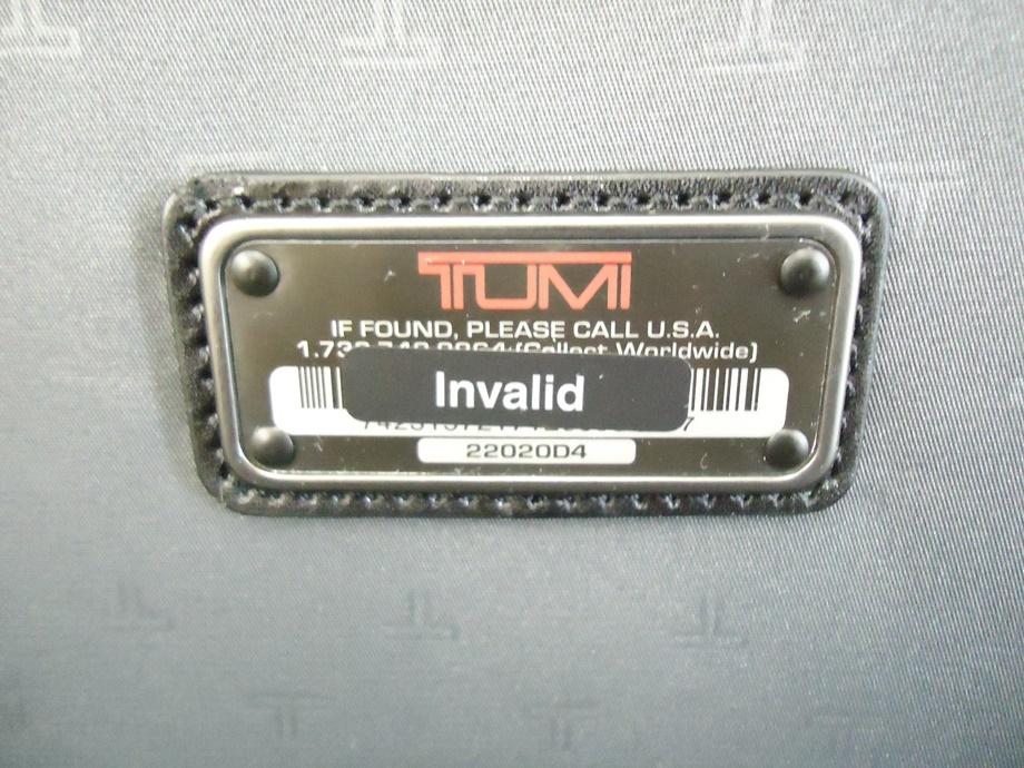 TUMI トゥミ ナイロン キャリーバッグ 黒 スーツケース トラベルバッグ ビジネスバッグ キャリーケース 旅行 2輪キャスター ブラック 良品_画像6
