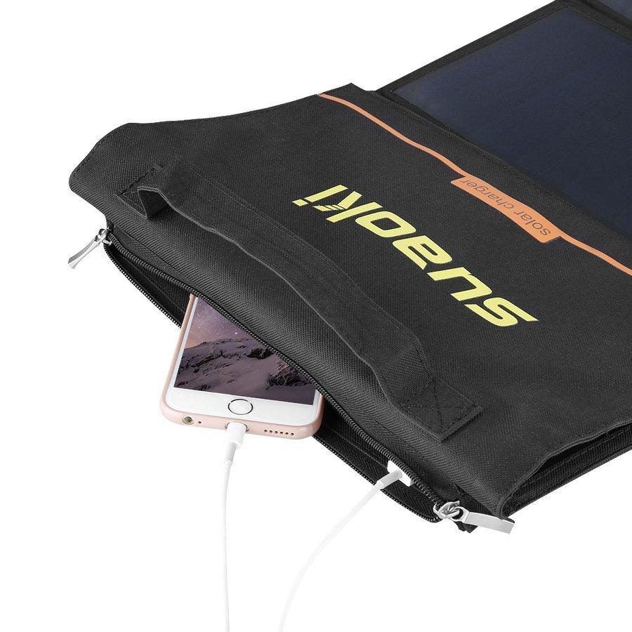 【送料無料・新品未使用】suaoki ソーラーチャージャー 60W ソーラーパネル 折りたたみ式 9枚搭載 ソーラー充電器 アンカー anker_画像5