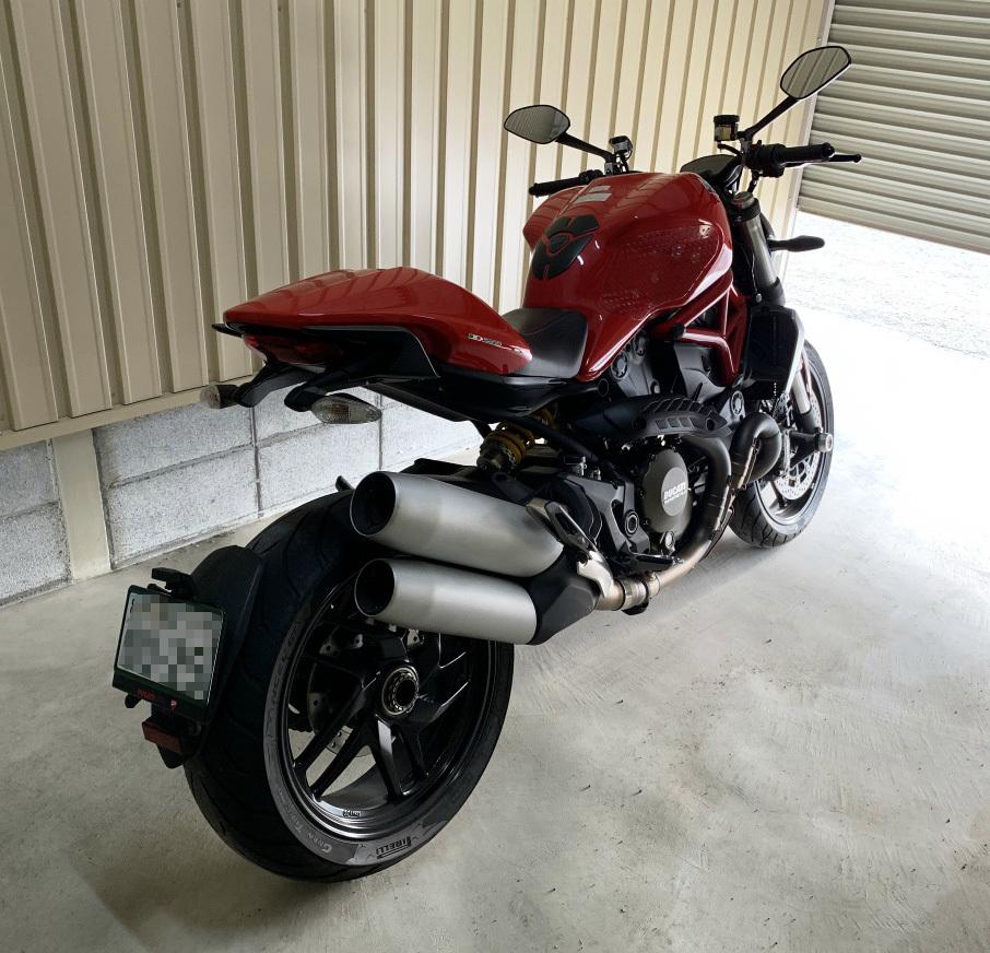 ドゥカティ モンスター1200 ETC付き 2018年9月にドゥカティ正規ディーラーより中古車として購入したバイク_画像6