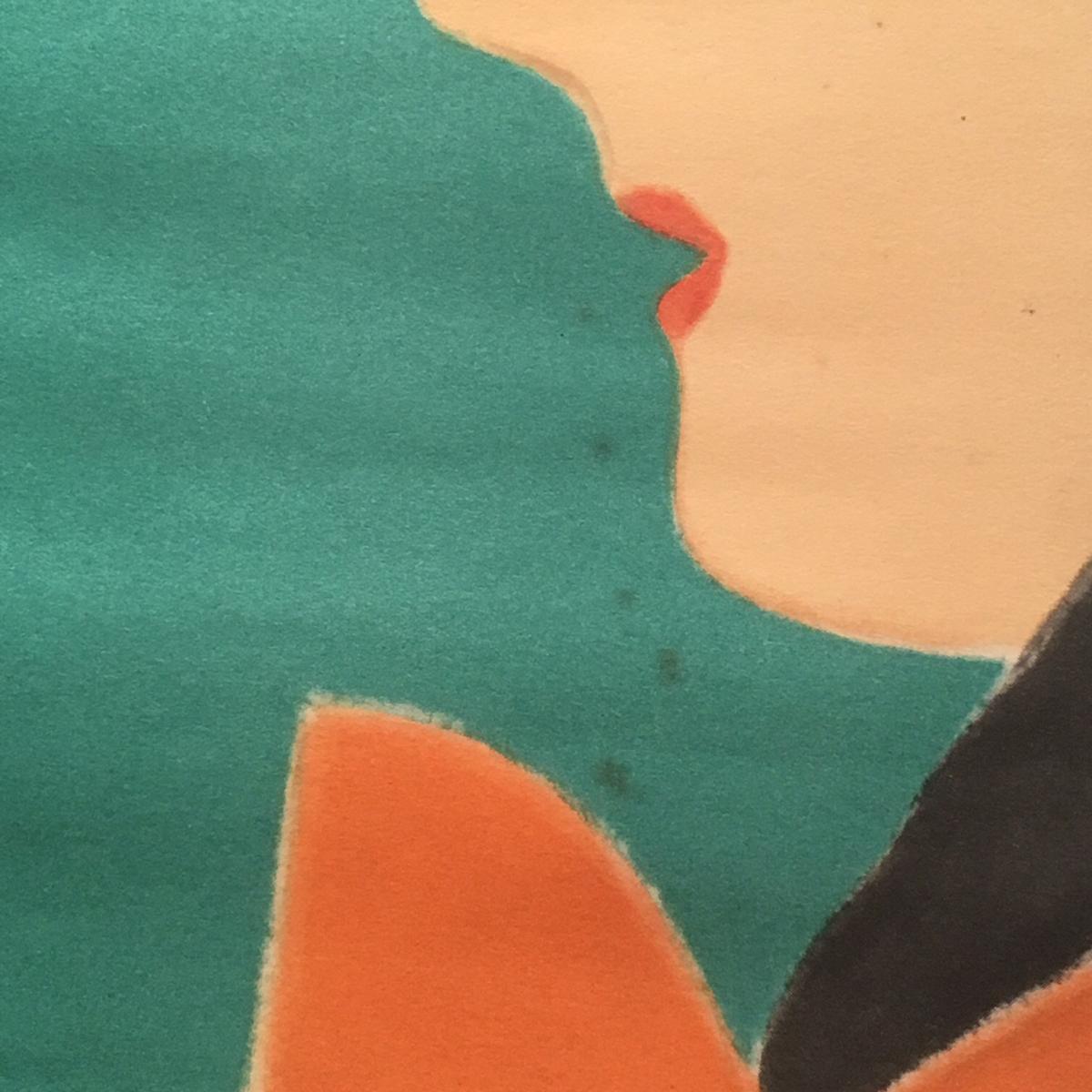 ★ 戦前 ポスター 河野鷹思デザイン?花王石鹸 化粧用 ツバメ石鹸 ☆資生堂 山名文夫 タイポグラフィ _画像6