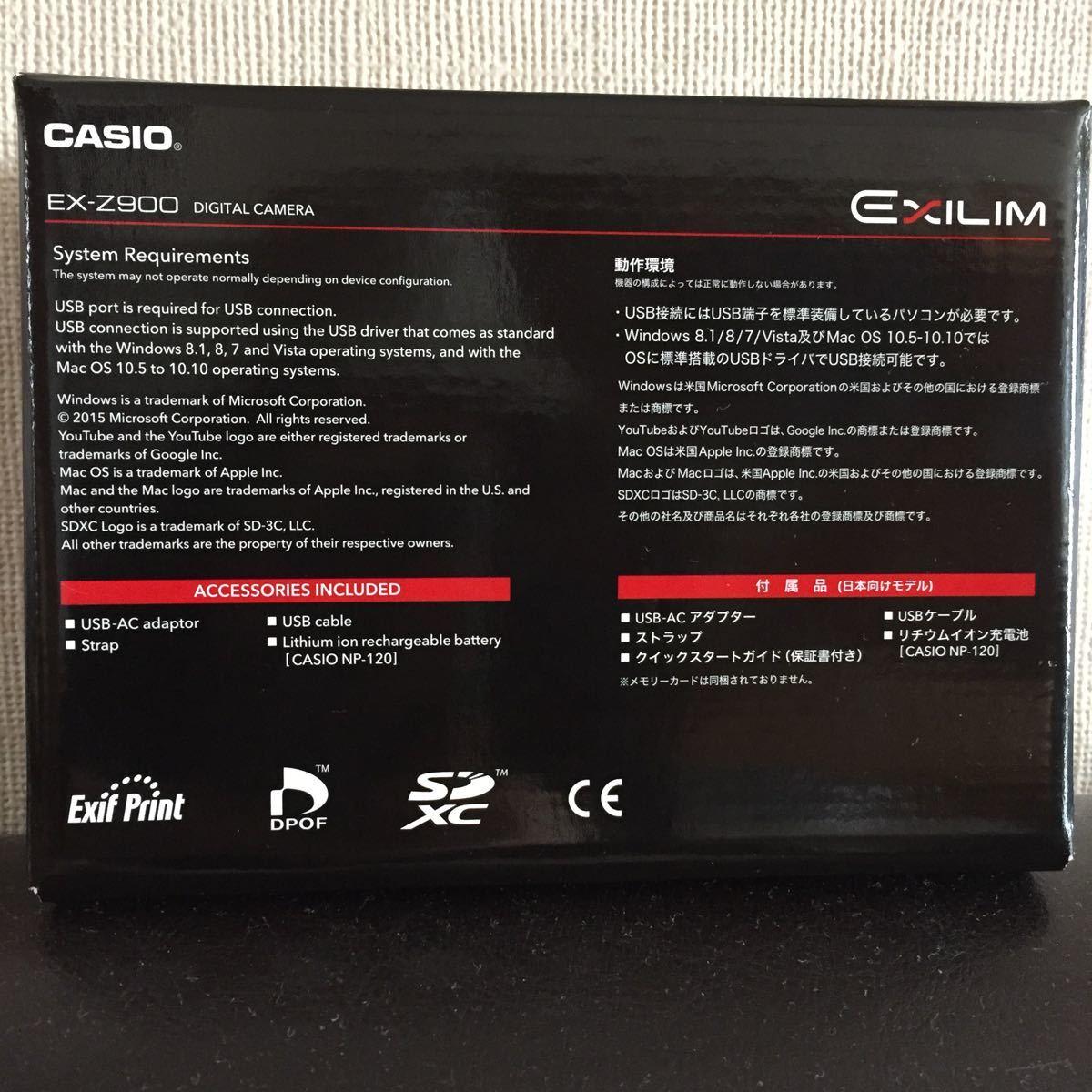 新品 CASIO EX-Z900 EXILIM カシオ デジタルカメラ コンパクト_画像2