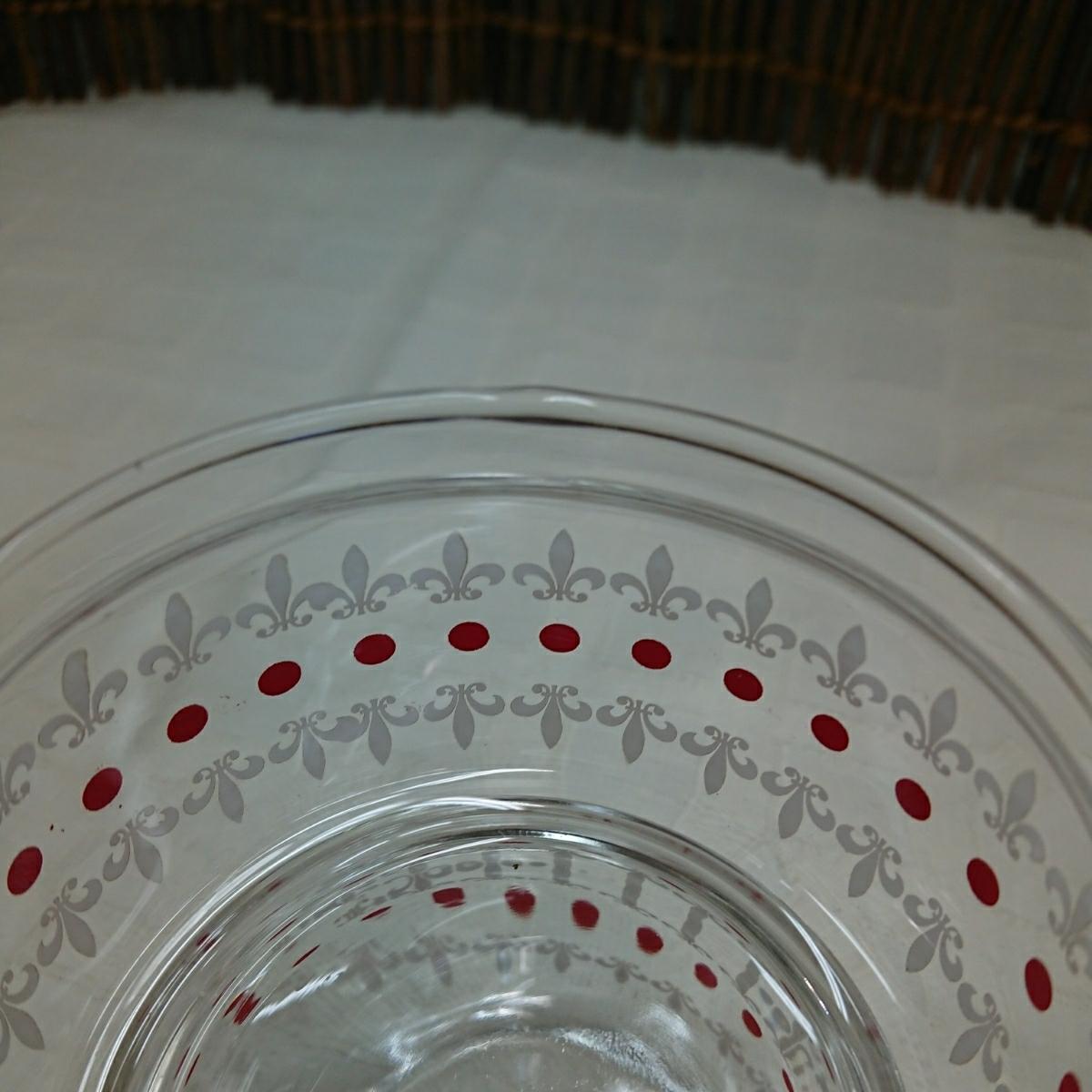 【未使用・デッドストック】アデリア ガラス スカーレット 2段シュガーポット2個 昭和レトロ (キャニスター 小物入れ キャンディ ジャー等)_画像4