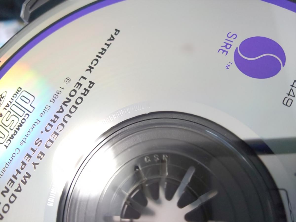 旧規格 紙帯 CSR刻印 マドンナ/トゥルー・ブルー 86年初版 3200円帯 32XD-449 _画像4