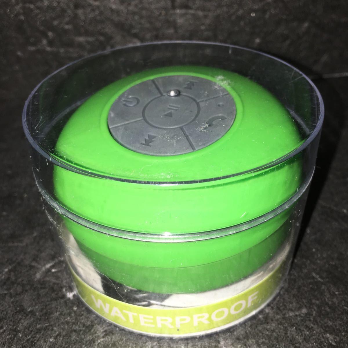 Waterproof Wireless Bluetooth Speaker Shower Handsfree Built-in MIC Player 防水ブルートゥーススピーカー 緑_画像1