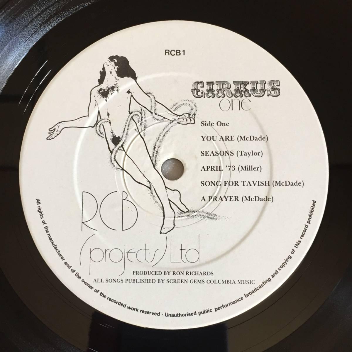 CIRKUS 「ONE」UK ORIGINAL RCB(PROJECTS)LTD. RCB 1 '73 UK MELLOTRON PROGRESSIVE ROCK 見開きジャケット_画像10