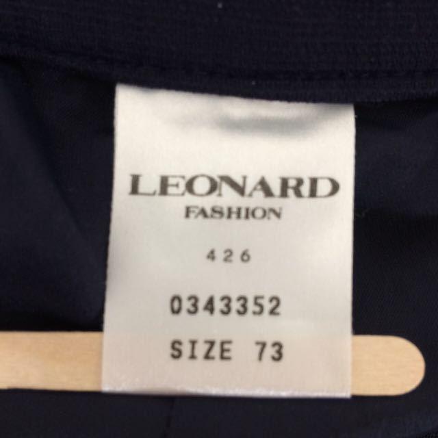 レオナール LEONARD ワイドパンツ ネイビー サイズ73 ゆったり レディース_画像7