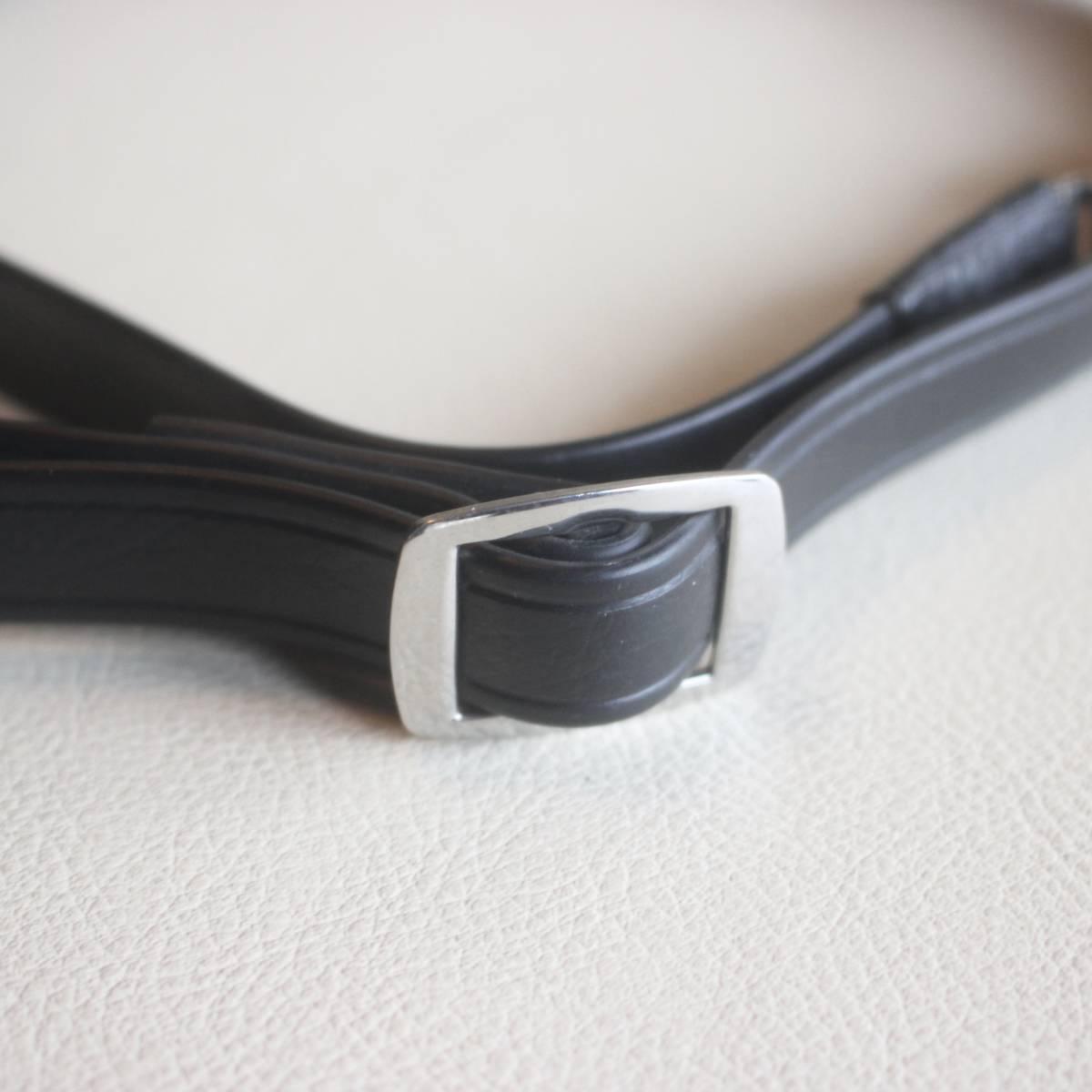 ゼンザ ブロニカ ZENZA BRONICA ストラップ 黒色 ブラック 金具付き (S2後期 ~ ECシリーズ 用) ★(68)_画像5