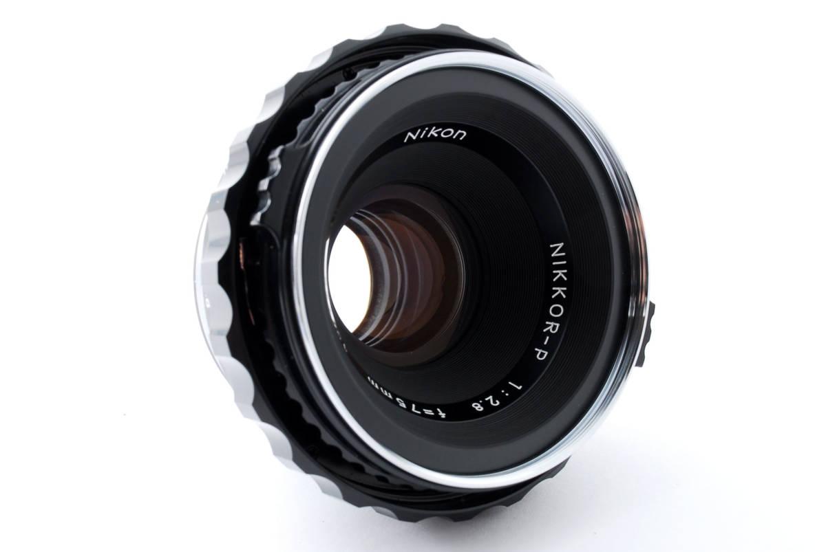 ★綺麗★ Bronica Nikkor-P 75mm F2.8 + ラバーフード + レンズフィルター ・ ゼンザブロニカ ★420564(68)_画像3