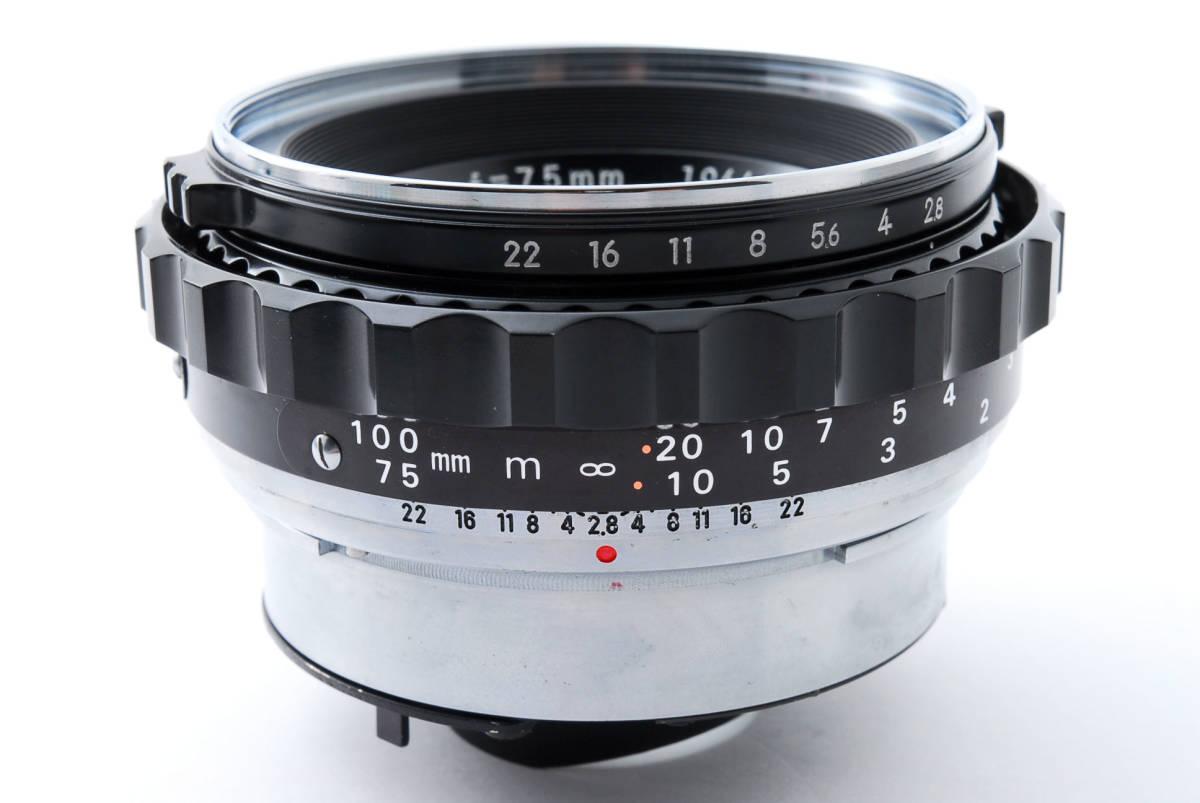 ★綺麗★ Bronica Nikkor-P 75mm F2.8 + ラバーフード + レンズフィルター ・ ゼンザブロニカ ★420564(68)_画像7