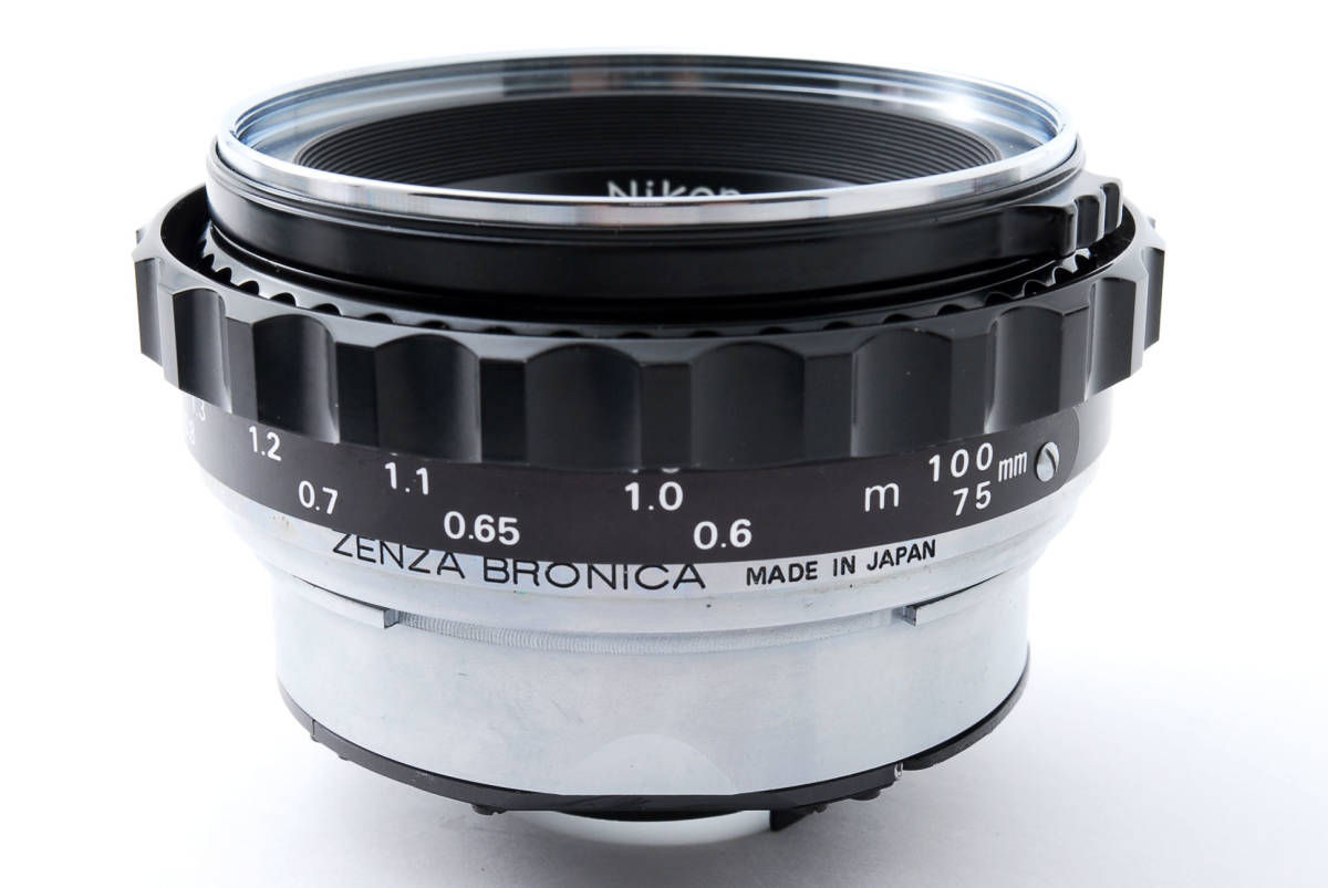 ★綺麗★ Bronica Nikkor-P 75mm F2.8 + ラバーフード + レンズフィルター ・ ゼンザブロニカ ★420564(68)_画像8