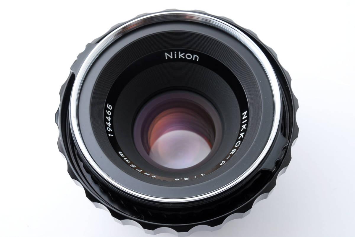 ★綺麗★ Bronica Nikkor-P 75mm F2.8 + ラバーフード + レンズフィルター ・ ゼンザブロニカ ★420564(68)_画像9