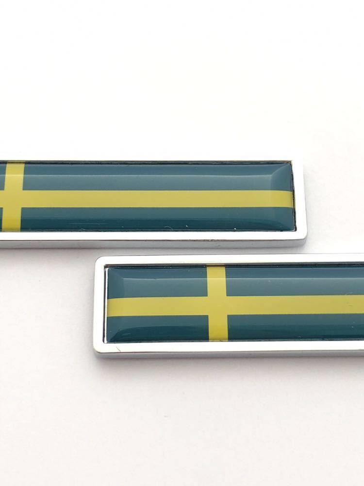 A スウェーデン 国旗 エアーバルブキャップエンブレム ステッカー サーブ SAAB 9-3 9-5 900 セダン カブリオレ スポーツ エステート_画像2