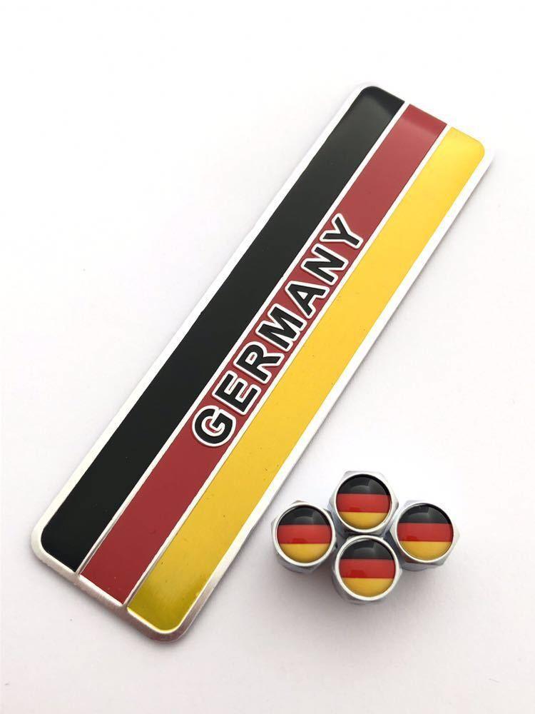 E ドイツ 国旗 バルブキャップ エンブレム ステッカー フェンダー ベンツ AMG Aクラス Bクラス Cクラス CL CLA CLK CLS Eクラス GLA GLC_画像1
