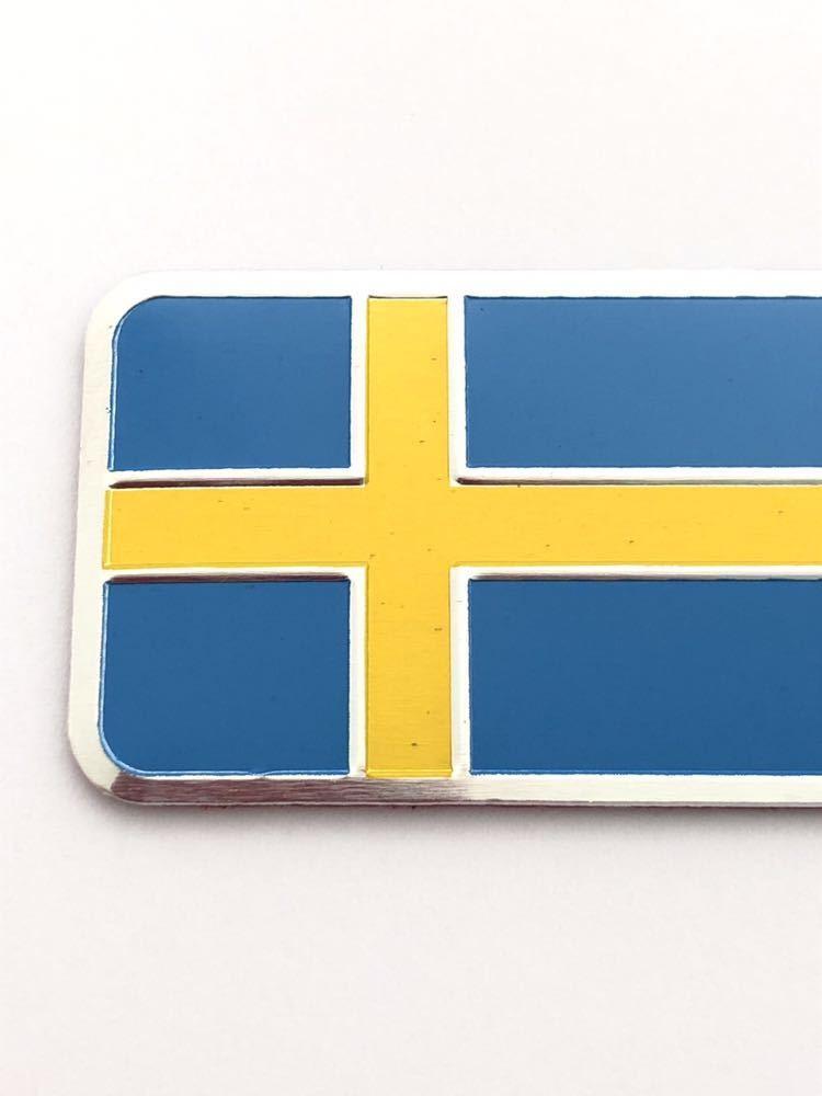 E スウェーデン 国旗 バルブキャップ エンブレム ステッカー フェンダー ボルボ VOLVO V70 V40 V60 V50 XC60 XC90 240 244 264 740 760 780_画像2