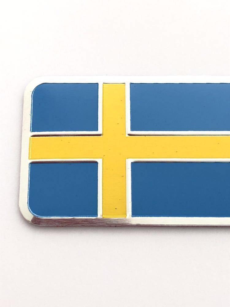E スウェーデン 国旗 バルブキャップ エンブレム ステッカー フェンダー サーブ SAAB 9-3 9-5 900 セダン カブリオレ スポーツ エステート_画像2