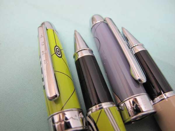 ACME ボールペン2本セット(173)アクメ ボールペン 長さ13.6cm 幅14.4mm ケース付  文房具  筆記用具 _画像3