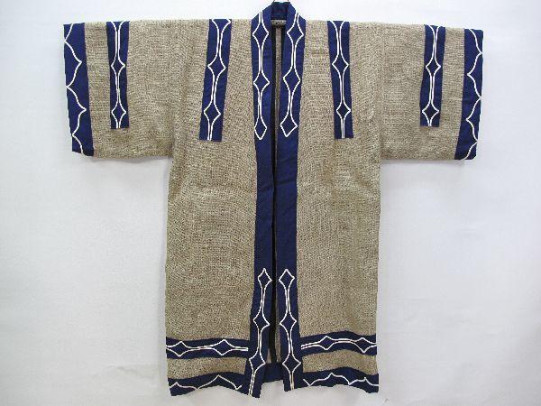 北海道 上川 アイヌ 民族衣装(396) 上川アイヌ作 文様 刺繍 未使用保管品_画像2