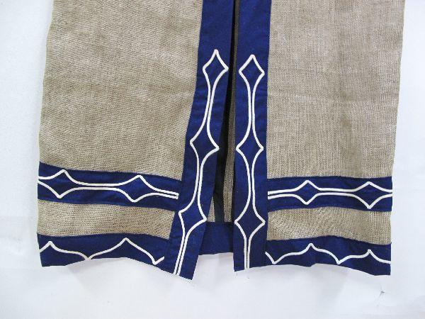 北海道 上川 アイヌ 民族衣装(396) 上川アイヌ作 文様 刺繍 未使用保管品_画像5