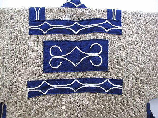 北海道 上川 アイヌ 民族衣装(396) 上川アイヌ作 文様 刺繍 未使用保管品_画像7