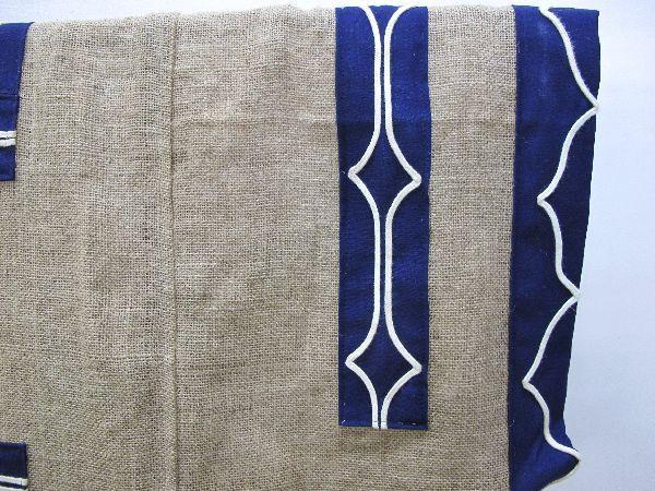 北海道 上川 アイヌ 民族衣装(396) 上川アイヌ作 文様 刺繍 未使用保管品_画像8