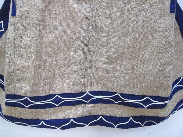 北海道 上川 アイヌ 民族衣装(396) 上川アイヌ作 文様 刺繍 未使用保管品_画像10