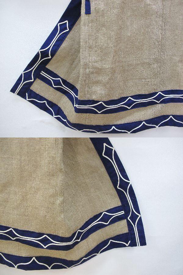 北海道 上川 アイヌ 民族衣装(396) 上川アイヌ作 文様 刺繍 未使用保管品_画像9