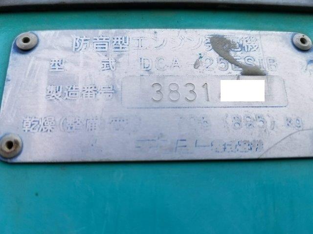 デンヨー 発電機 DCA-25ESIB 25KVA 9.750時間 軽油 単相3線 三相4線 切替仕様 ビックタンク 栃木県_画像3