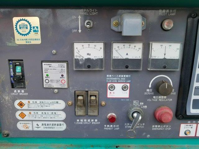 デンヨー 発電機 DCA-25ESIB 25KVA 9.750時間 軽油 単相3線 三相4線 切替仕様 ビックタンク 栃木県_画像9
