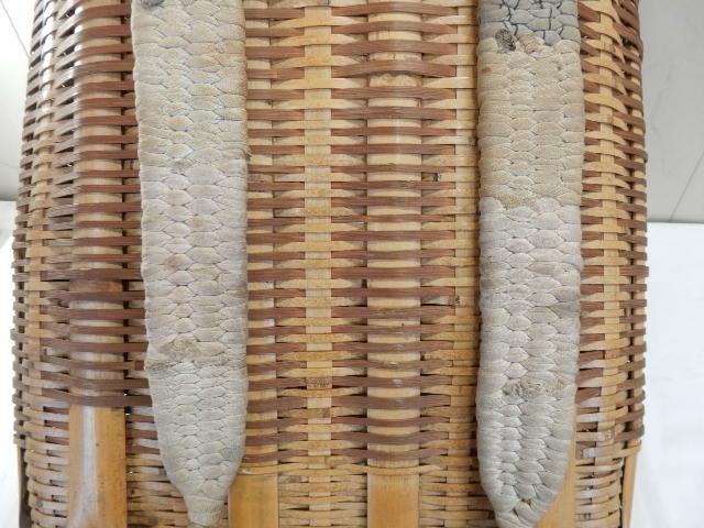 竹製 籐製? 背負い籠 中古 (43×37×50cm) 古民具 農家 農作業 カゴ 大型 レトロ_画像7