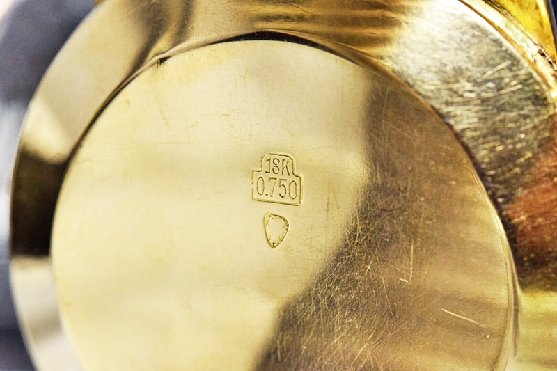売切り!!1円~希少★REVUE×名門アンジェラス★ダブルネーム K18RG 金無垢 2レジスター クロノグラフ★名機 cal.215★手巻き 腕時計 1950's_画像7