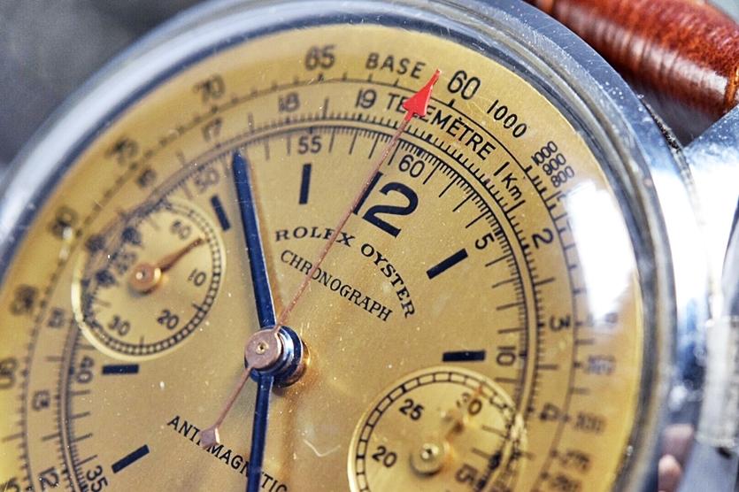 売切り!!1円~激希少★ROLEX OYSTER ロレックス プリデイトナ 初期文字盤 バルジュー23 手巻き クロノグラフ 腕時計 1940's 検)Ref.2811 _画像4