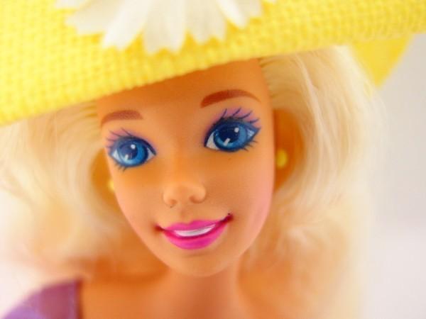 HSC0053さ バービー Barbie 人形 1966 1976 ロングヘアー 金髪 ヴィンテージ 全長約29cm_画像2
