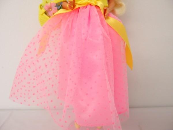 HSC0053さ バービー Barbie 人形 1966 1976 ロングヘアー 金髪 ヴィンテージ 全長約29cm_画像4