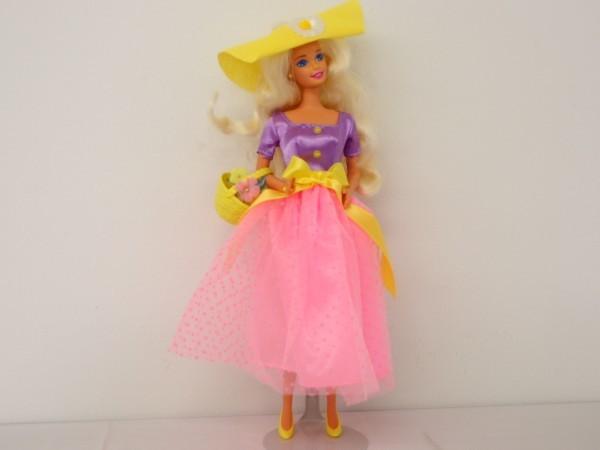 HSC0053さ バービー Barbie 人形 1966 1976 ロングヘアー 金髪 ヴィンテージ 全長約29cm