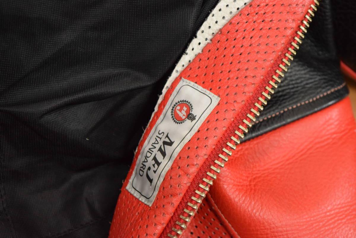 KUSHITANI クシタニ レーシングスーツ MFJ公認 サイズL バンクセンサー付き DUCATIのロゴ付 (革ツナギ ドゥカティ_画像3