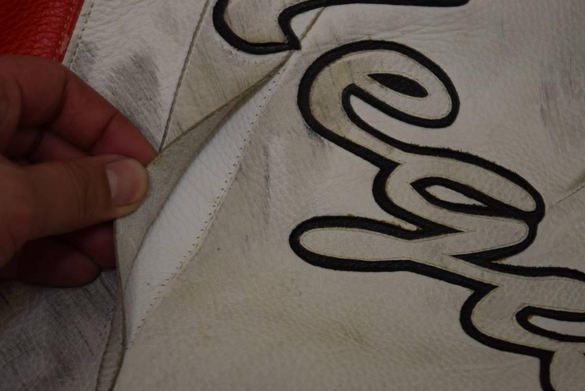 KUSHITANI クシタニ レーシングスーツ MFJ公認 サイズL バンクセンサー付き DUCATIのロゴ付 (革ツナギ ドゥカティ_画像8