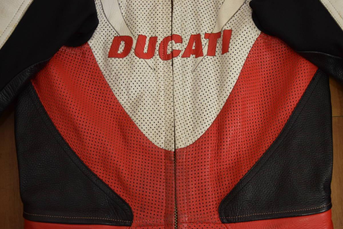 KUSHITANI クシタニ レーシングスーツ MFJ公認 サイズL バンクセンサー付き DUCATIのロゴ付 (革ツナギ ドゥカティ_画像2