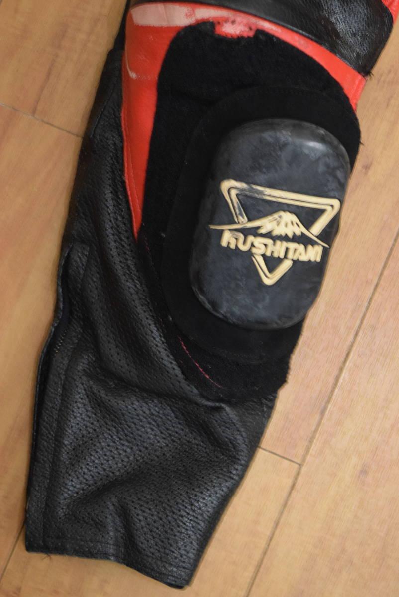 KUSHITANI クシタニ レーシングスーツ MFJ公認 サイズL バンクセンサー付き DUCATIのロゴ付 (革ツナギ ドゥカティ_画像6