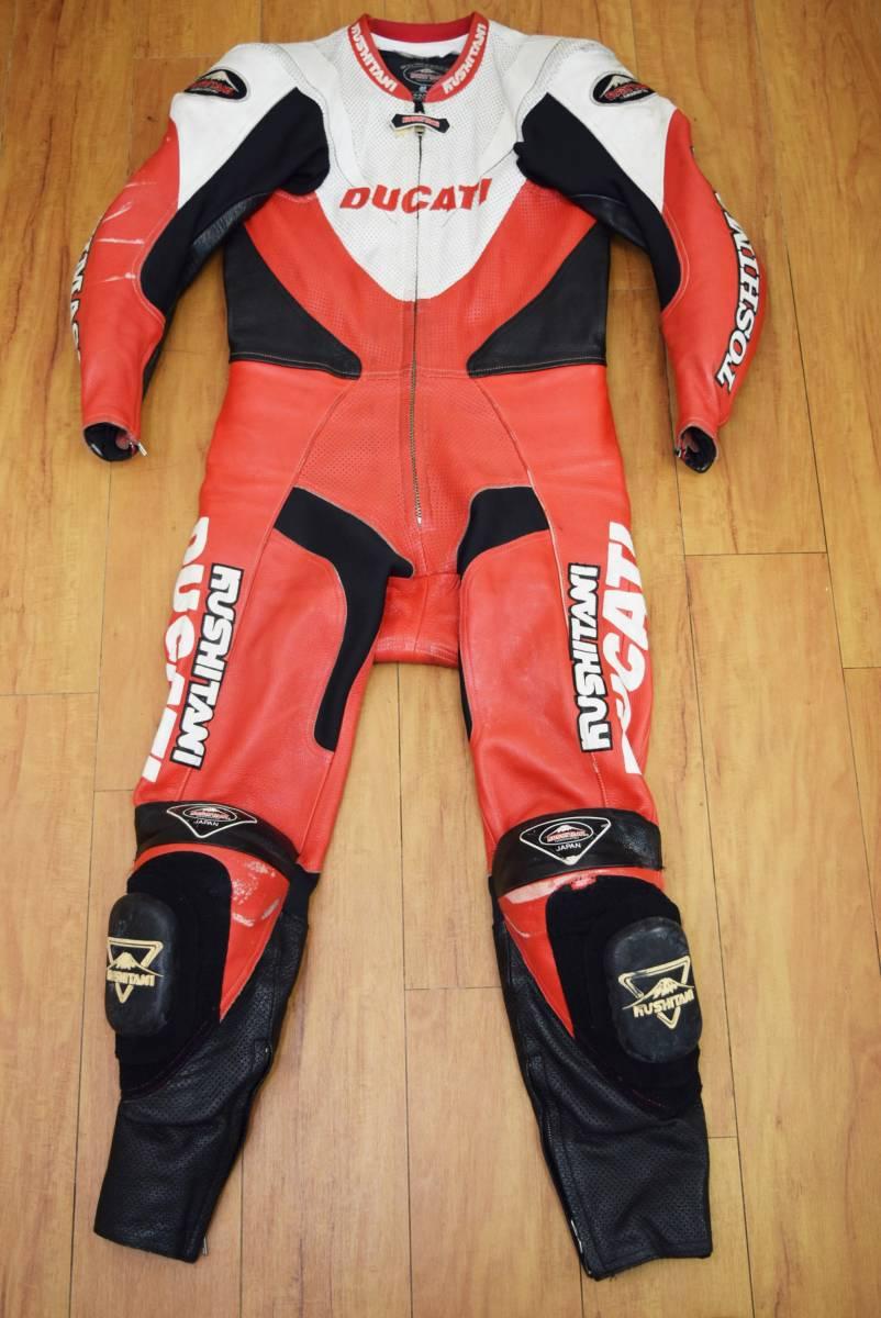 KUSHITANI クシタニ レーシングスーツ MFJ公認 サイズL バンクセンサー付き DUCATIのロゴ付 (革ツナギ ドゥカティ