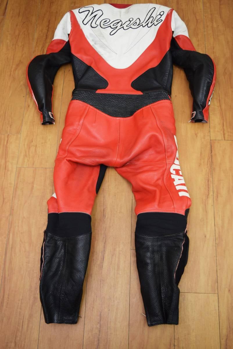 KUSHITANI クシタニ レーシングスーツ MFJ公認 サイズL バンクセンサー付き DUCATIのロゴ付 (革ツナギ ドゥカティ_画像7