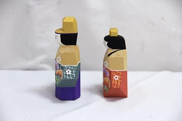 保民 木彫 雛人形 ひな人形 木箱入り 管EFA_画像4