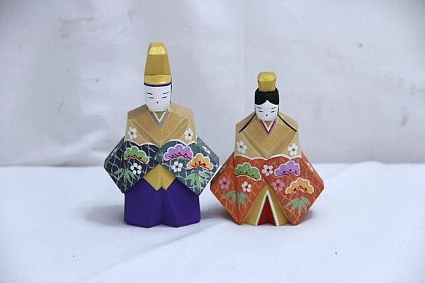 保民 木彫 雛人形 ひな人形 木箱入り 管EFA_画像2