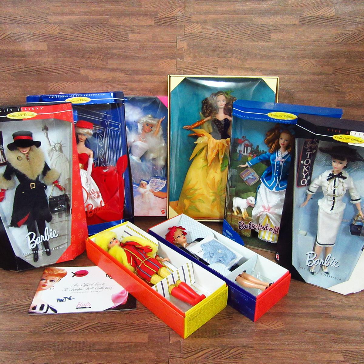 未使用 箱入り Barbie バービー 8点セット MATTEL マテル ドール 人形 8体 まとめ 玩具 東E