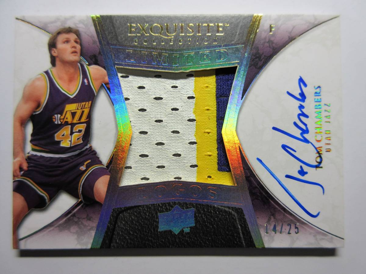 2008-09 Exquisite Collection Limited Logos Tom Chambers/25 Utah Jazz トム・チェンバ
