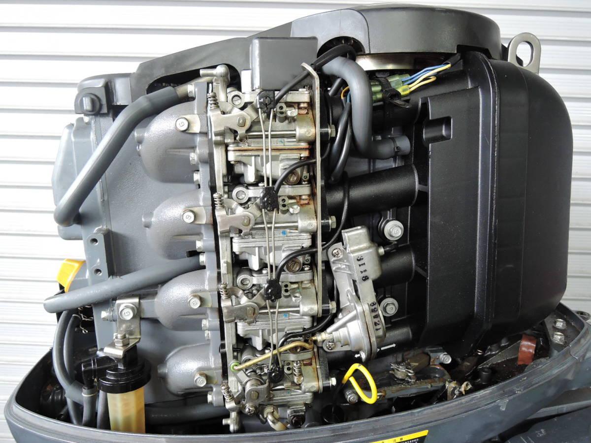 エンジン始動OK YAMAHA ヤマハ 船外機 60馬力 4スト 付属品付 S490418 スズキ トーハツ ホンダ 30 40 50 70 80 90_画像3